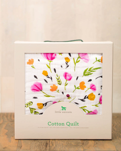 Cotton Muslin Quilt - Berry & Bloom - Oh Happy Fry  - 2