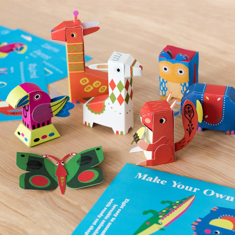 Make Your Own 3D Animals - Oh Happy Fry - we ship worldwide