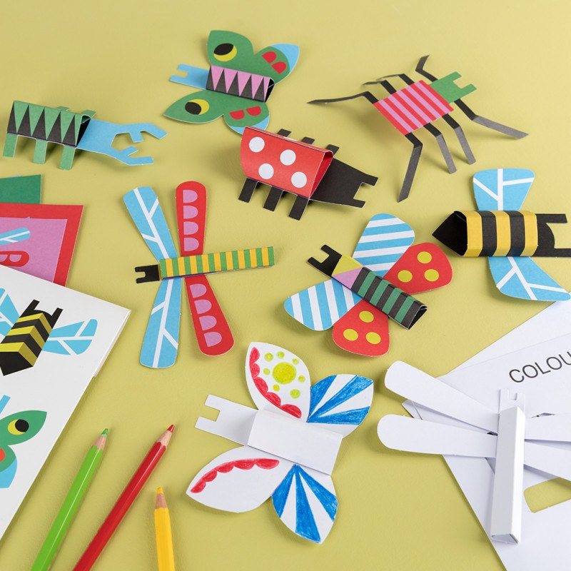 Make Your Own Cardboard Bugs - Oh Happy Fry - we ship worldwide