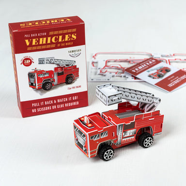 Make Your Own Pull Back Fire Engine