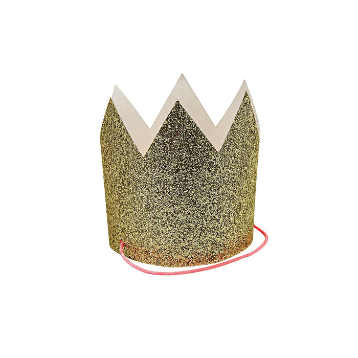 Mini Gold Glittered Crowns - set of 8 - Oh Happy Fry - we ship worldwide