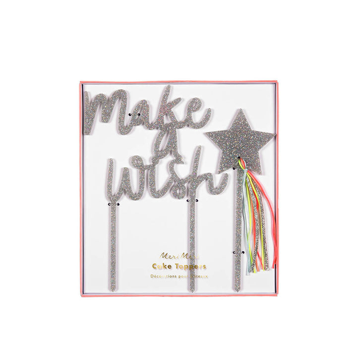 Make A Wish Acrylic Cake Topper - Oh Happy Fry - we ship worldwide