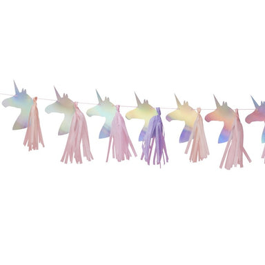 Iridescent Unicorn Tassel Garland - Oh Happy Fry - we ship worldwide