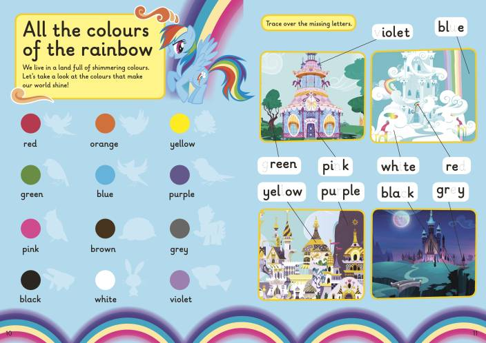 My Little Pony: 500 First Words Sticker Book (Paperback) - Oh Happy Fry - we ship worldwide