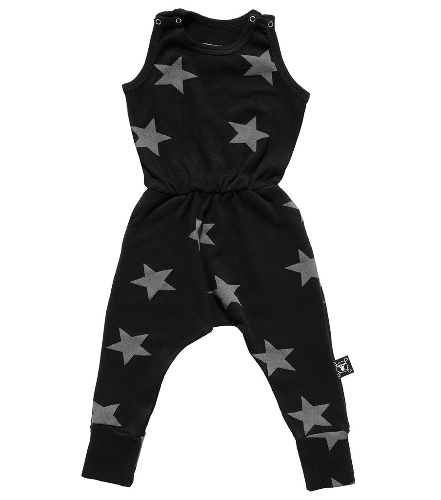 Black Star Romper - Oh Happy Fry  - 1