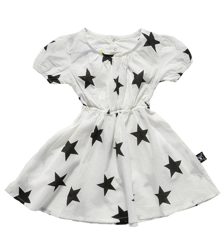 White Doll Cotton Dress - Oh Happy Fry  - 1