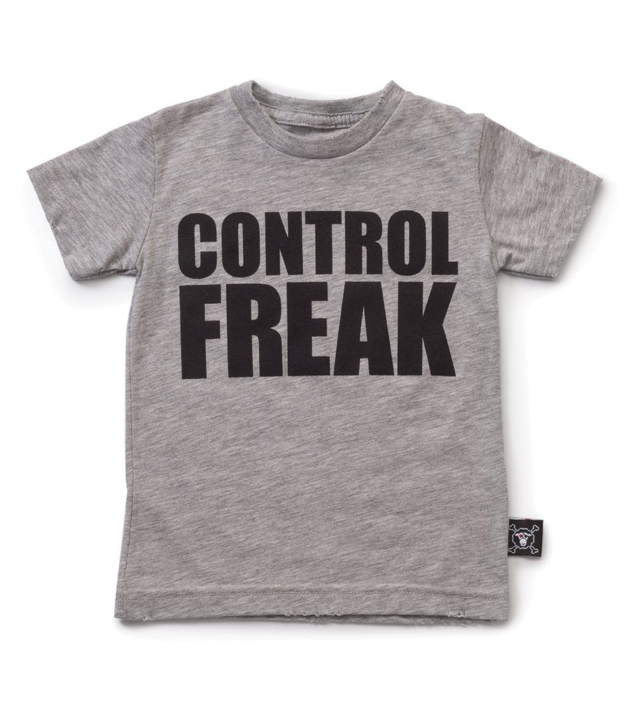 Control Freak T-Shirt - Heather Grey - Oh Happy Fry