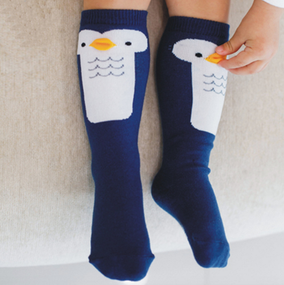 Blue Penguin High Socks - Oh Happy Fry  - 1