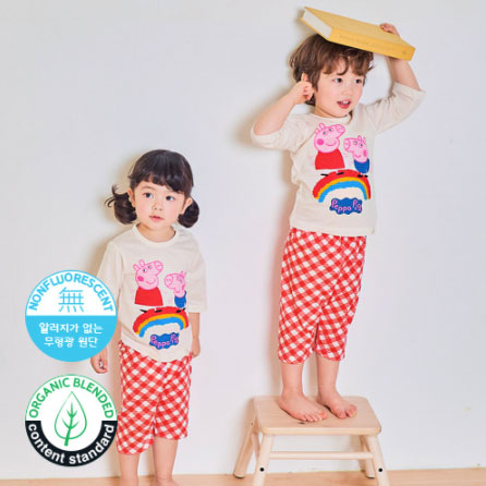 Peppa 3/4 Sleeves Lounge Wear Set - Oh Happy Fry - we ship worldwide