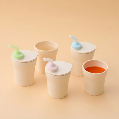 Miniware 1-2-3 Sippy Cup (3 Colours) - Oh Happy Fry - we ship worldwide
