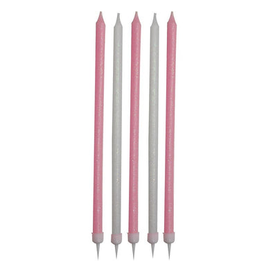 Pink & White Tall Candle