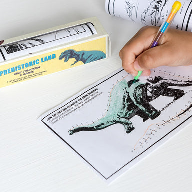 Prehistoric Land Mini Colouring And Games - Oh Happy Fry - we ship worldwide
