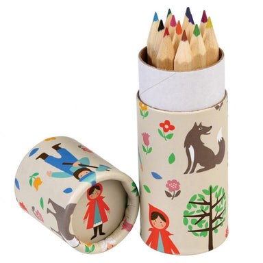 Set Of 12 Red Riding Hood Colouring Pencils - Oh Happy Fry - we ship worldwide