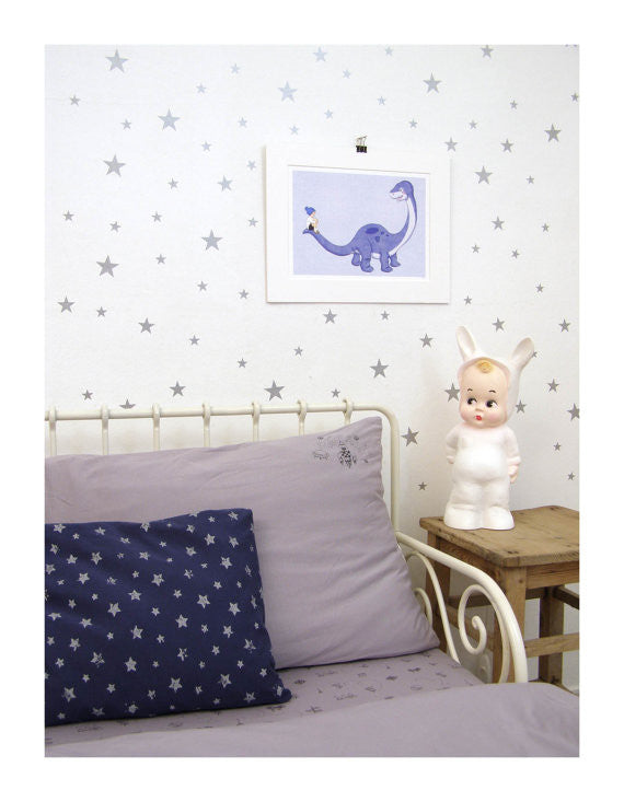 Silver Star Wall Decal - Oh Happy Fry  - 1