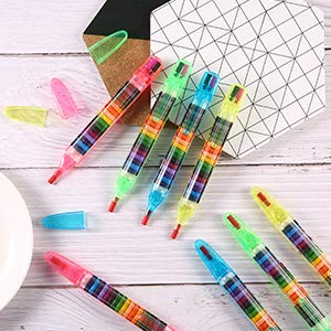 Stackable Slider Multi Colour Pencil Crayons - Oh Happy Fry