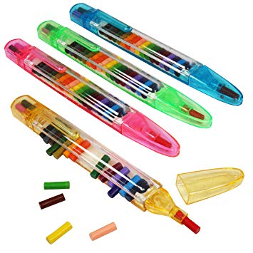 Stackable Slider Multi Colour Pencil Crayons