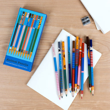 Ten Animal Colouring Pencils - Oh Happy Fry