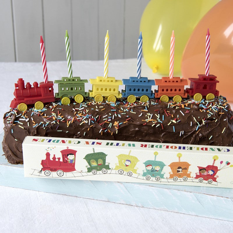 Party Train Candleholder With 6 Candles