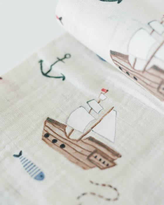 Cotton Muslin Swaddle - Treasure Map
