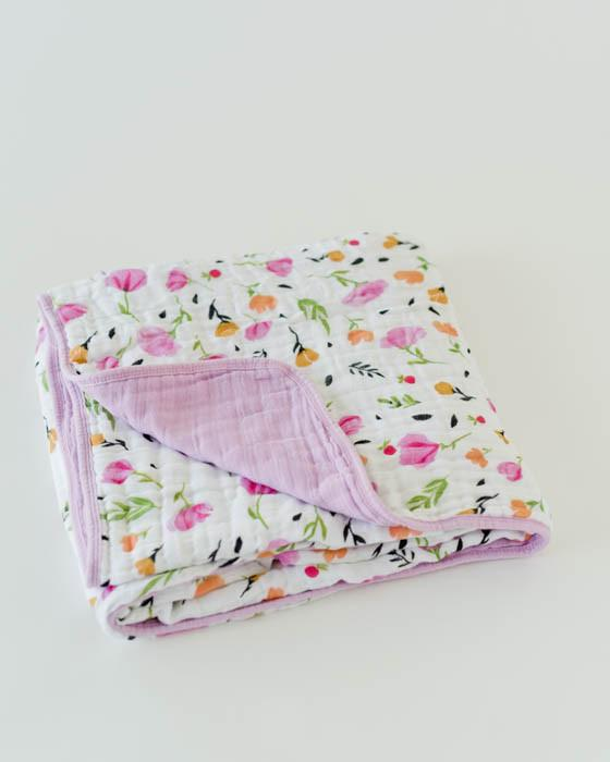 Cotton Muslin Quilt - Berry & Bloom - Oh Happy Fry - we ship worldwide