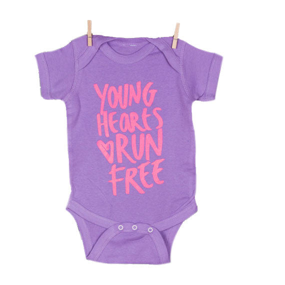 Young Hearts Run Free Baby One Piece - Oh Happy Fry - we ship worldwide