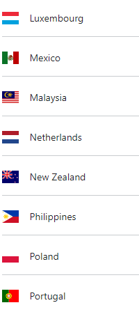 country list 3