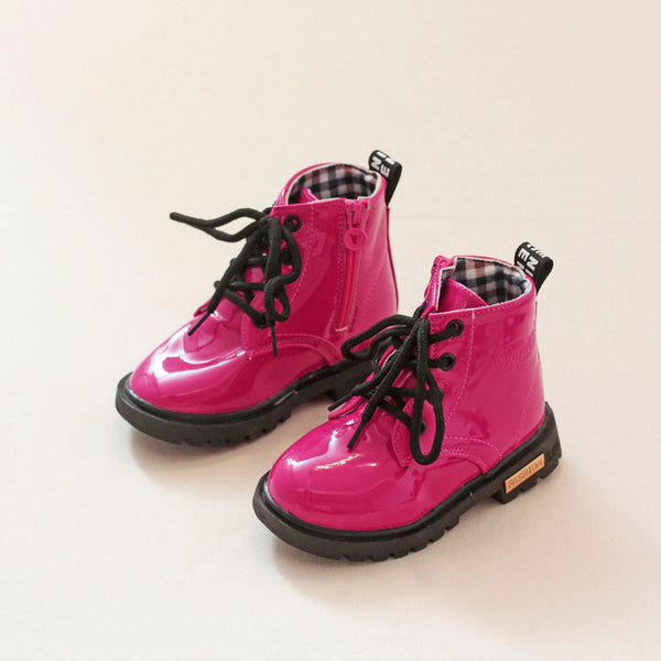 Toddler Girl Pretty Solid Side Zipper Martin Boots