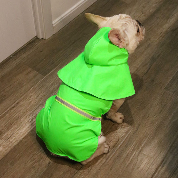 Reflective Strip Raincoat Hoodies for Your Pet