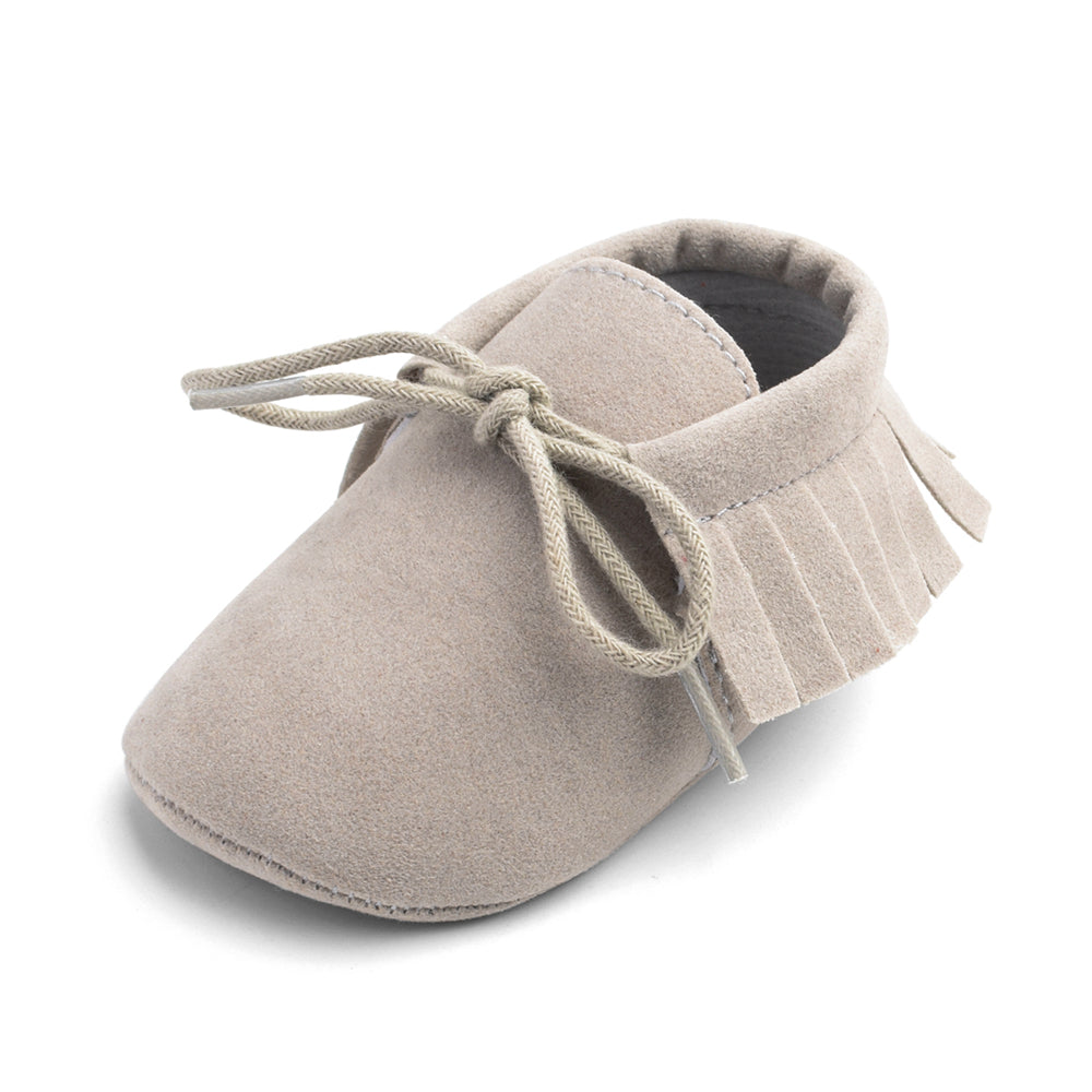 Baby / Toddler Bowknot Solid Tasseled First Walkers Shoes