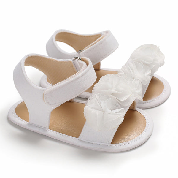 Baby / Toddler Floral Decor Velcro Closure Sandals