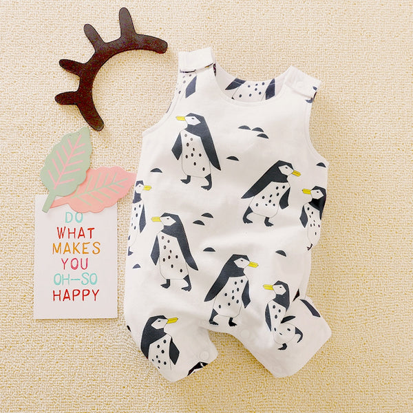 Baby Penguin Sleeveless Romper