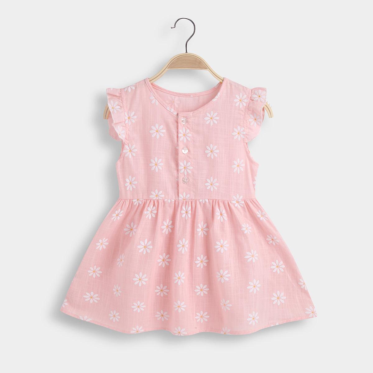 Baby Daisy Allover Solid Dresses