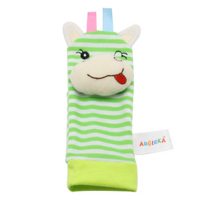 Baby Adorable Striped Rattle Toys Sock (A piece of Sock)