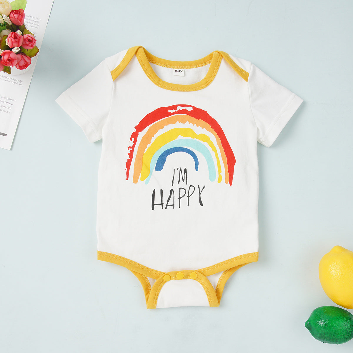 Baby Pretty Sun or Rainbow Print Rompers