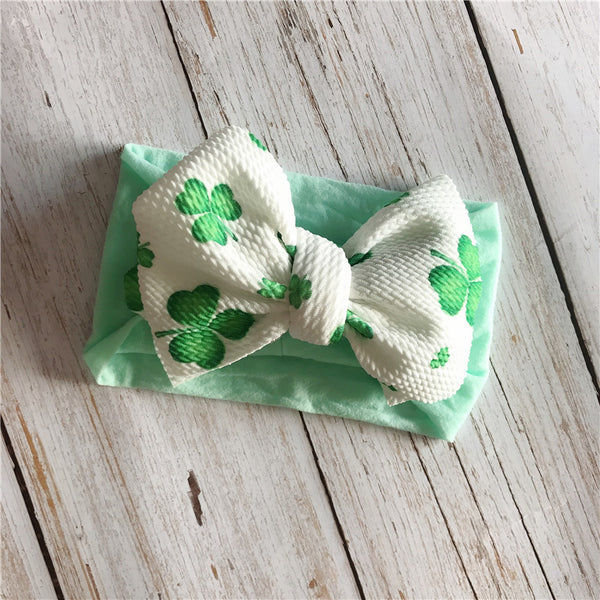 Baby Pretty Heart Print Bowknot Headband