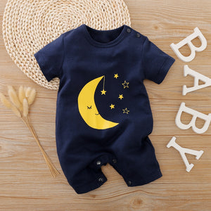 Baby Clouds or Moon Print Bodysuits
