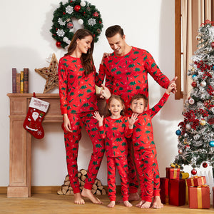 Christmas Dinosaur Patterned Family Matching Pajamas Sets (Flame Resistant)