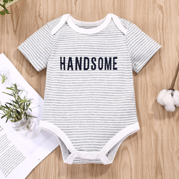 Baby Adorable Bear Striped Romper