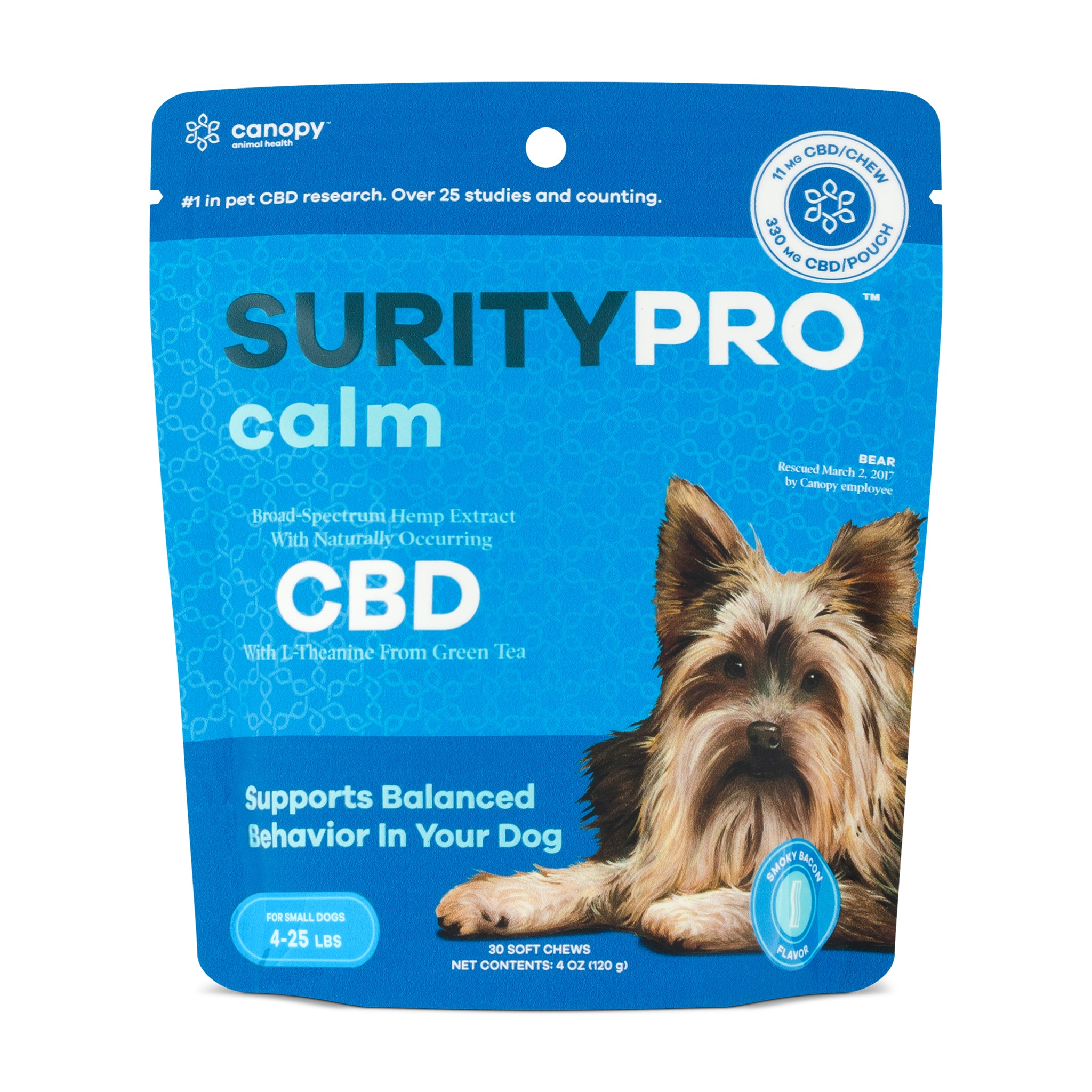 SurityPro Calm Smoky Bacon Flavor Soft Chews