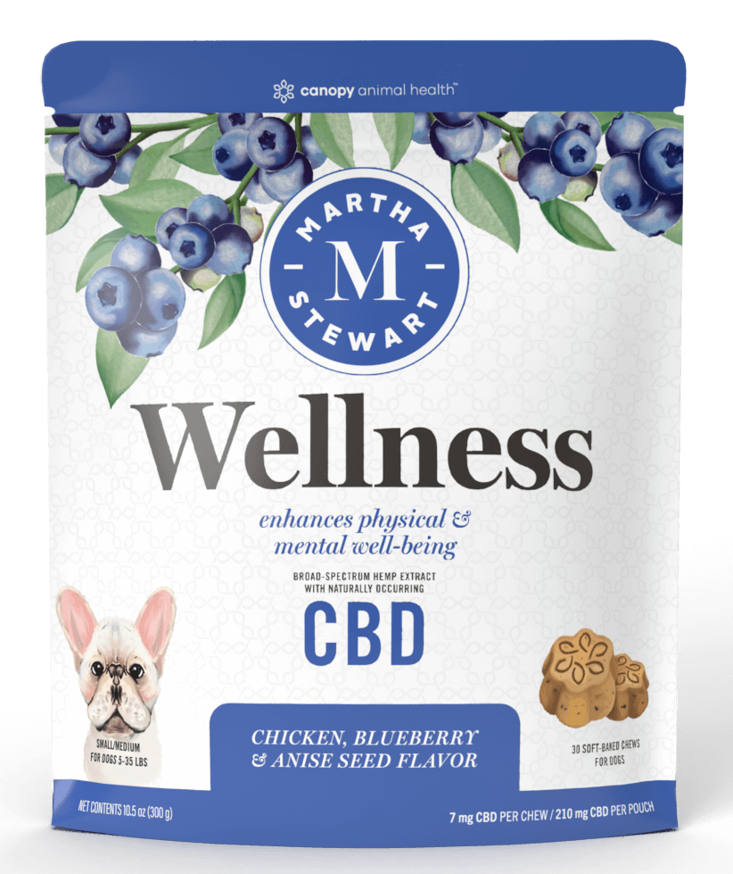 Martha Stewart CBD Wellness Chicken and Blueberry Flavor Soft Baked Chews