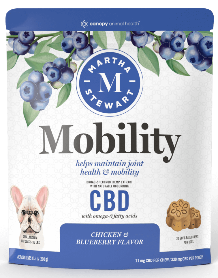 Martha Stewart CBD Mobility Chicken and Blueberry Flavor Soft Baked Chews