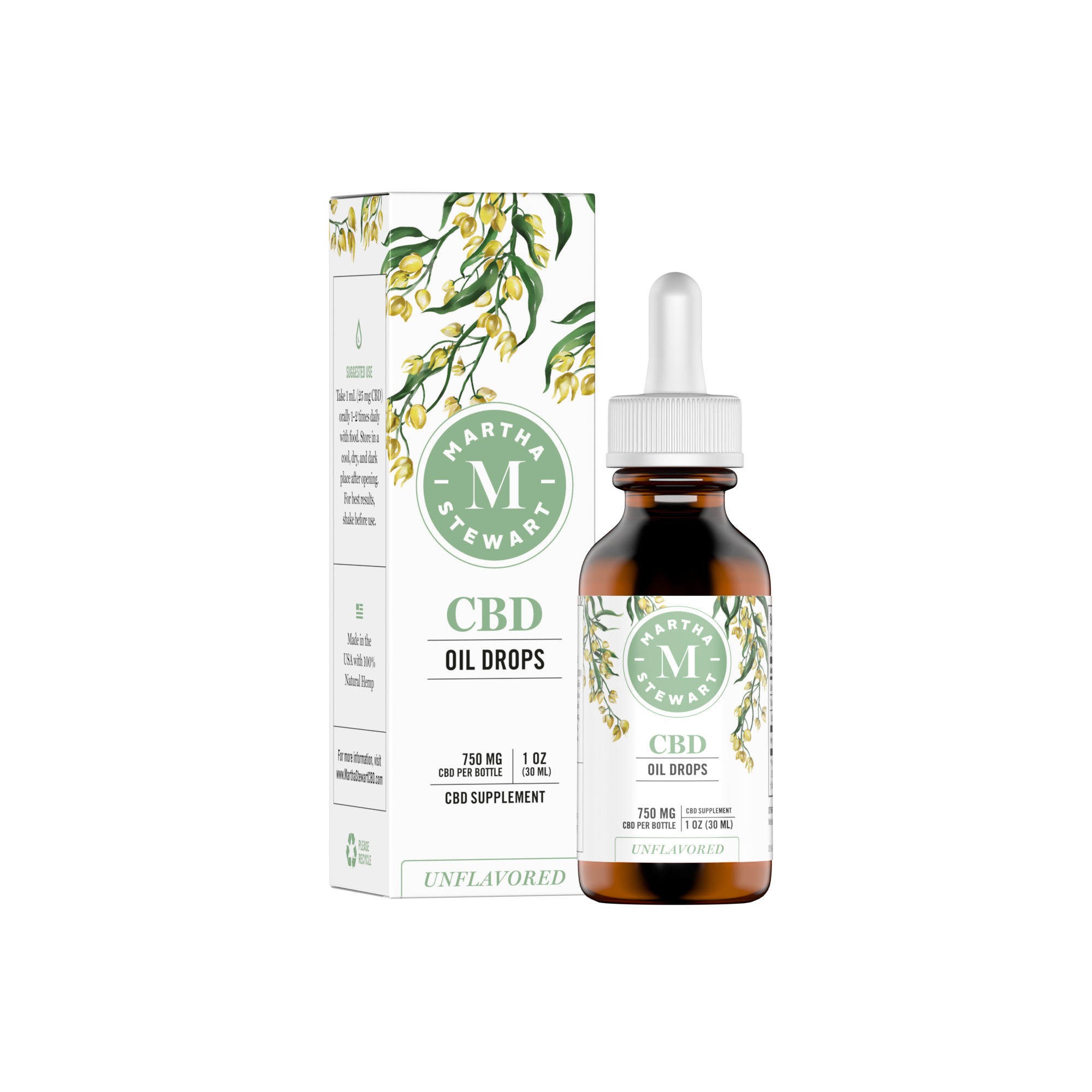 Martha Stewart CBD Unflavored Box Front