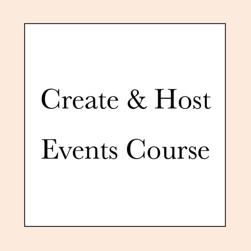 CREATE & HOST EVENTS & RETREATS COURSE PRE-SALE