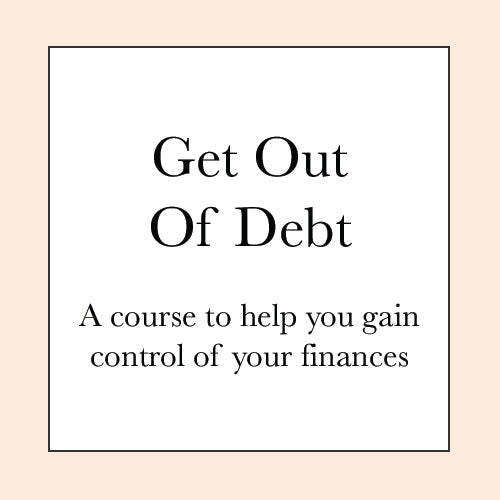 GETTING OUT OF DEBT COURSE PRE-SALE
