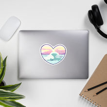 Load image into Gallery viewer, Sunset ocean heart stickers
