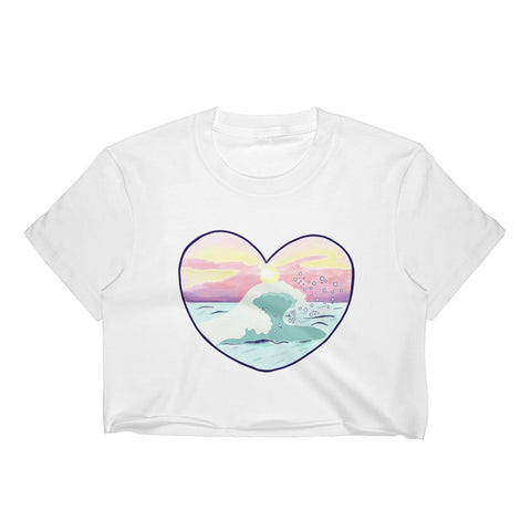 Sunset Ocean crop top Shirt