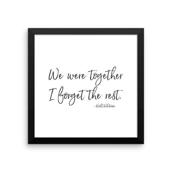We were together Framed Art Print