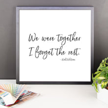 Load image into Gallery viewer, We were together Framed Art Print