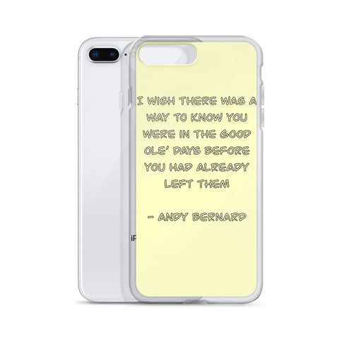 Quoted Yellow iPhone Case