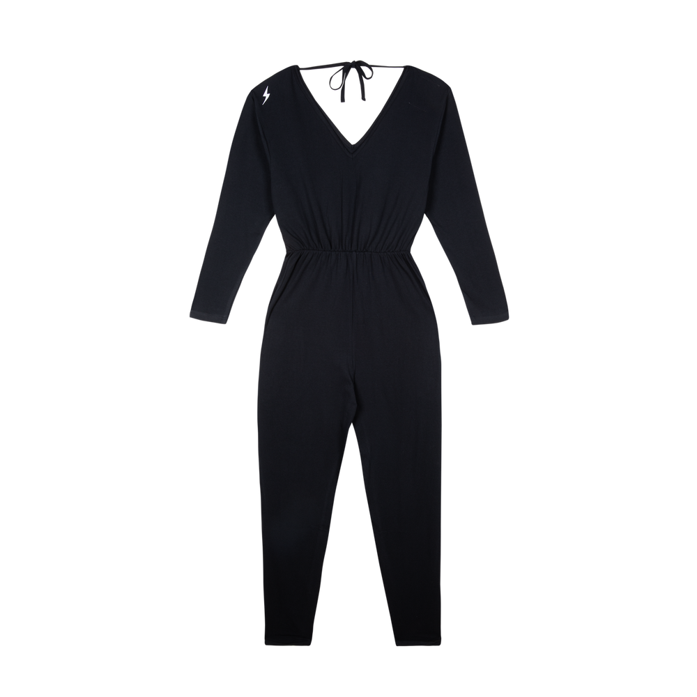 Organic Cotton Black Breastfeeding Jumpsuit